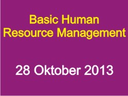 Basic Human Resource Management oktober 2013