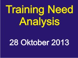 Training Need Analysis oktober 2013