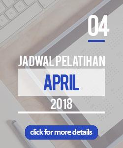 jadwal pelatihan bulan april 2018