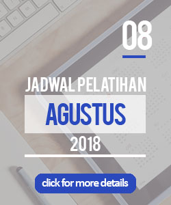 Jadwal pelatihan bulan agustus 2018 di Yogyakarta