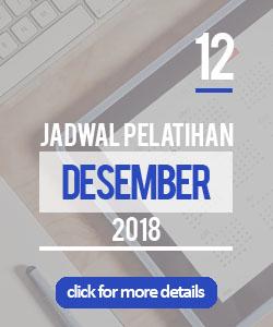 Jadwal pelatihan bulan desember 2018 di Yogyakarta