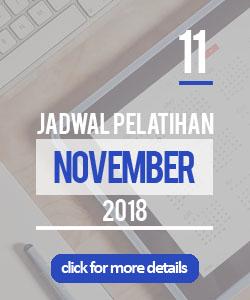 Jadwal pelatihan bulan november 2018 di Yogyakarta