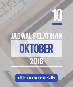 Jadwal pelatihan bulan oktober 2018 di Yogyakarta