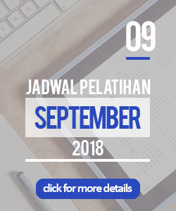 Jadwal pelatihan bulan september 2018 di Yogyakarta